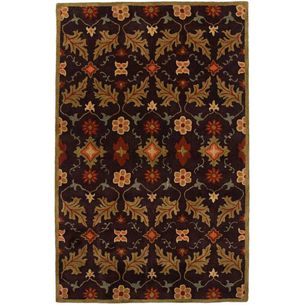 Hand-tufted Coffee Wool Rug (2' x 3')