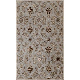 Hand-tufted Ashwood/ Ivory Wool Rug (8' x 11')