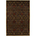 Hand-tufted Dark Brown Wool Rug (8' x 11')