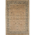 Hand-tufted Sand Brown/ Grey Wool Rug (8' x 11')