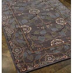 Hand-tufted Grey Wool Rug (9'6 x 13'6)