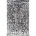 Handwoven Grey Shag Rectangular Rug (8' x 10')
