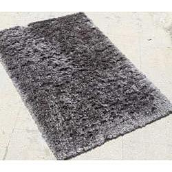 Handwoven Grey Shag Rectangular Rug (8' x 10')