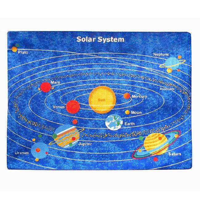 Paradise Solar System Blue Rug (5' x 7')