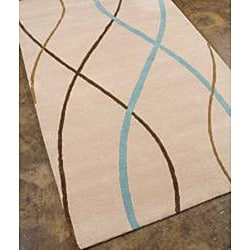 Hand-tufted White Wool Rug (2' x 3')