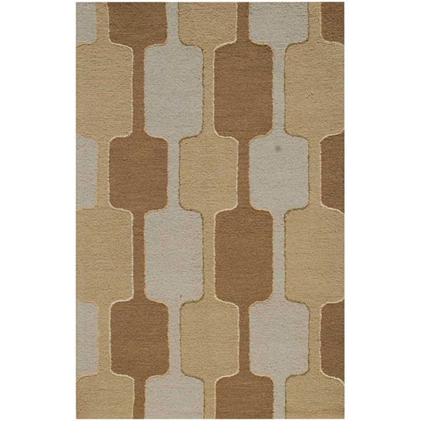 Hand-tufted Brown Twisted Wool Rug (8' x 11')