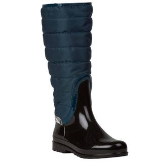 Burberry Women's Blue Quilted Insulated Rain Boots