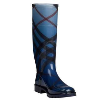 Burberry Women's 'Nova Pop Degrade' Blue Rain Boots