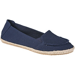 Refresh by Beston Women's 'Lala' Navy Canvas Boat Shoes