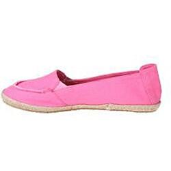 Refresh by Beston Women's 'Lala' Fuchsia Canvas Boat Shoes