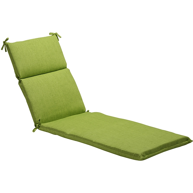 Pillow Perfect Solid Green Outdoor Chaise Lounge Cushion at Sears.com