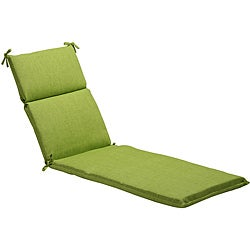 Pillow Perfect Solid Green Outdoor Chaise Lounge Cushion