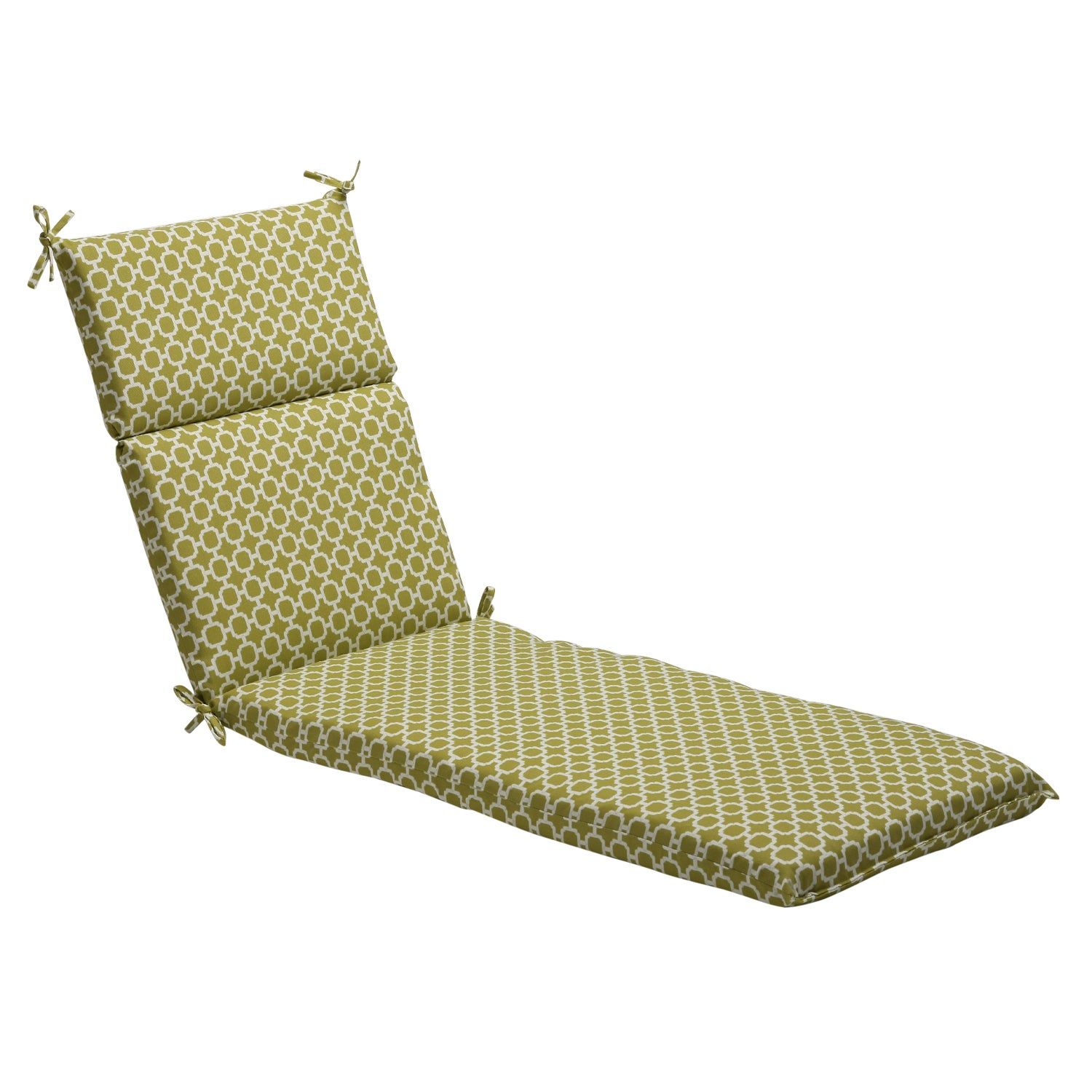Pillow Perfect Green/ White Geometric Outdoor Chaise Lounge Cushion at Sears.com
