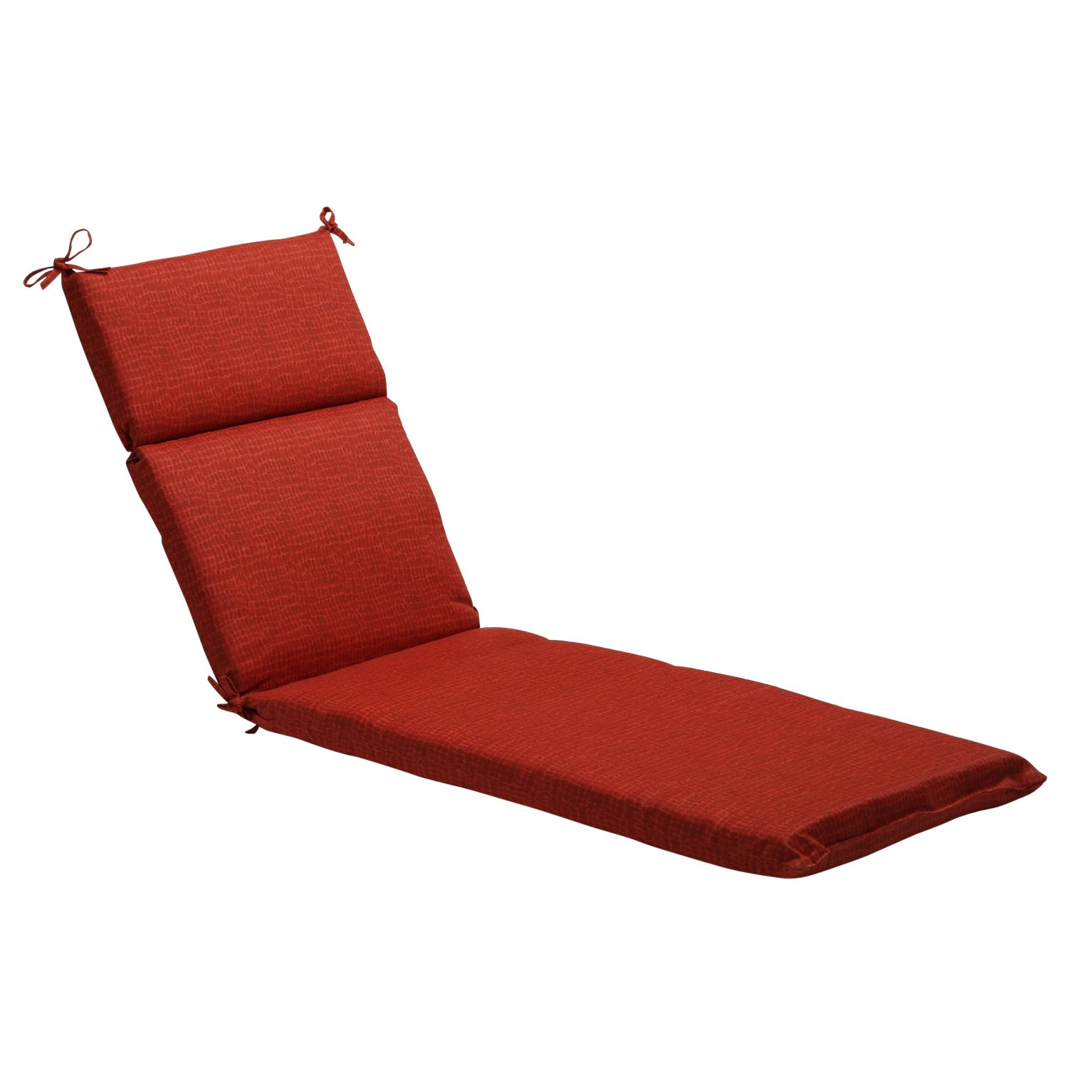 Red Outdoor Animal Print Chaise Lounge Cushion