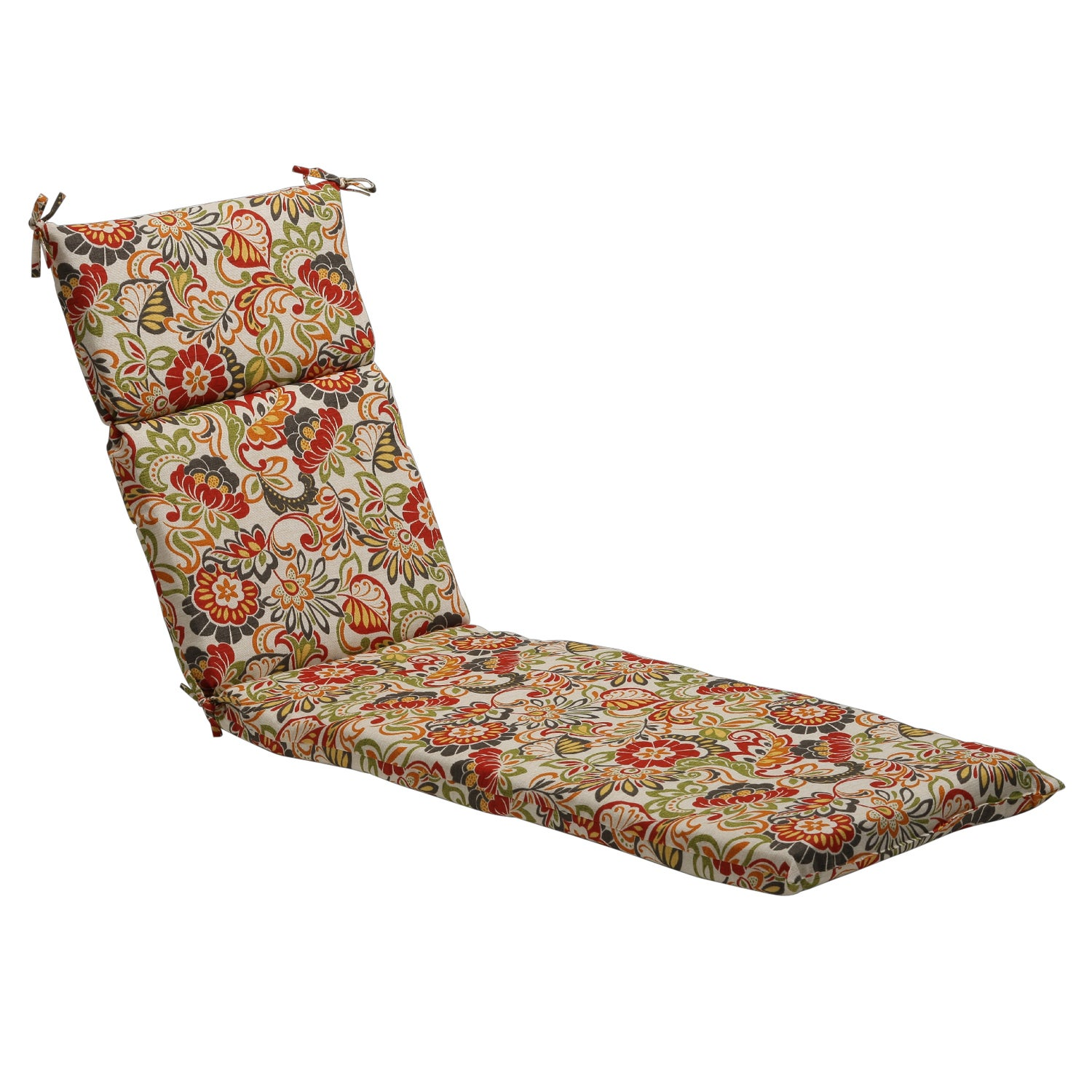 Multicolored Floral Outdoor Chaise Lounge Cushion