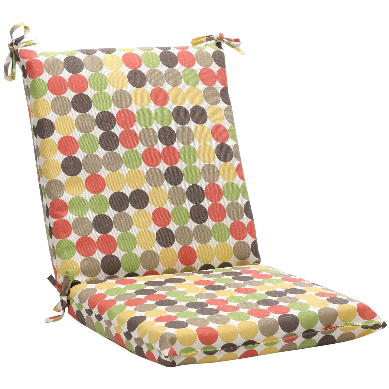 Squared Multicolored Polka Dots Outdoor Chair Cushion  : Squared Multicolored Polka Dots Outdoor Chair Cushion L14095684 from www.overstock.com size 1500 x 1500 jpeg 508kB