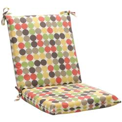 Squared Multicolored Polka Dots Outdoor Chair Cushion