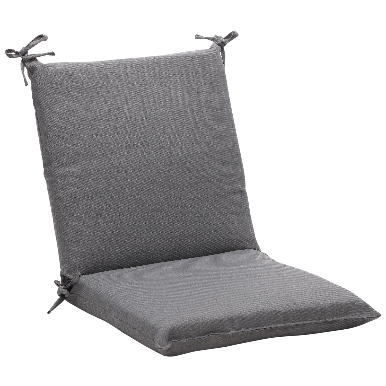 Squared Solid Gray Textured Outdoor Chair Cushion - 14095704 ...