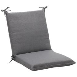 Squared Solid Gray Textured Outdoor Chair Cushion