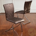 Christopher Knight Home MacKenzie Brown Floral Modern Chairs (Set of 2)