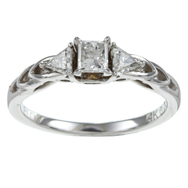 14k White Gold 1/2ct TDW Diamond Promise Ring (H-I, I1-I2)