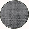 Madison Charcoal Grey Chenille Rug (3'10 Round)