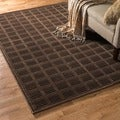 Madison Chocolate/ Mocha Brown Chenille Rug (5&#39;3 x 7&#39;7)