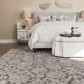 Madison Taupe/ Grey Floral Chenille Rug (9'2 x 12'7)