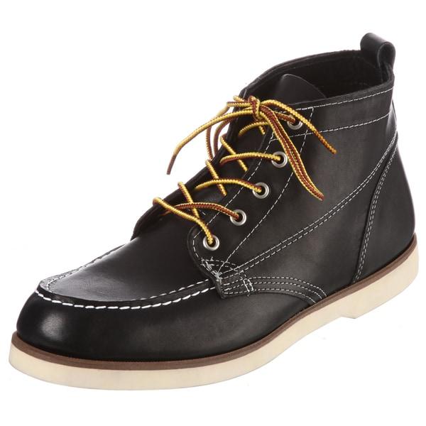 Sebago Men's 'Fairhaven' Black Leather Boots