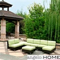 angelo:HOME Napa Springs Apple Green 6 Piece Indoor/Outdoor Wicker Furniture Set