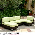 angelo:HOME Napa Springs Apple Green 4 Piece Indoor/Outdoor WickerFurniture Set