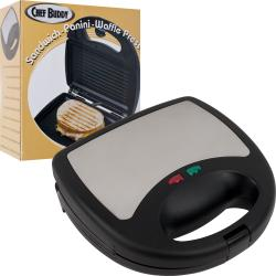 Chef Buddy 3-in-1 Sandwich Panini and Waffle Press
