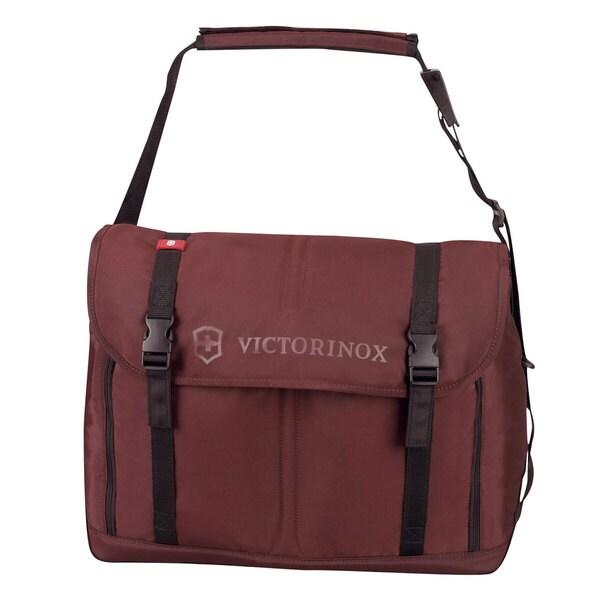 Victorinox Swiss Army Seefeld Maroon Weekender Travel Messenger Bag 8810981