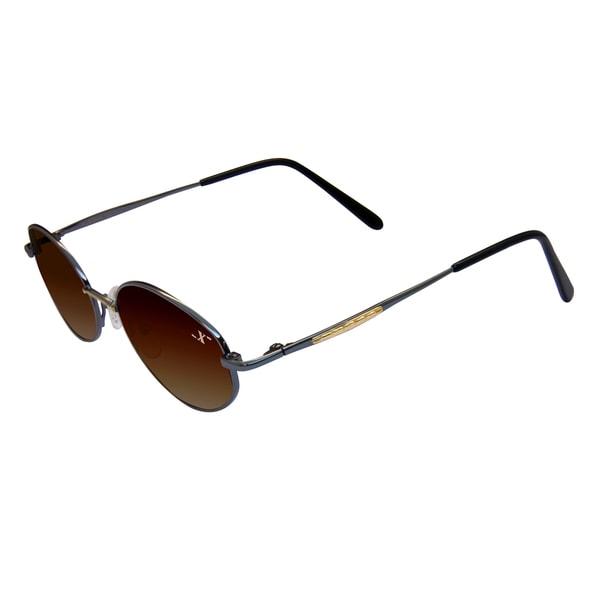 Xezo Unisex 'Mustang 100' Titanium Oval Sunglasses