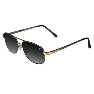 Xezo Men's 'Pilot 150' Titanium Aviator Sunglasses