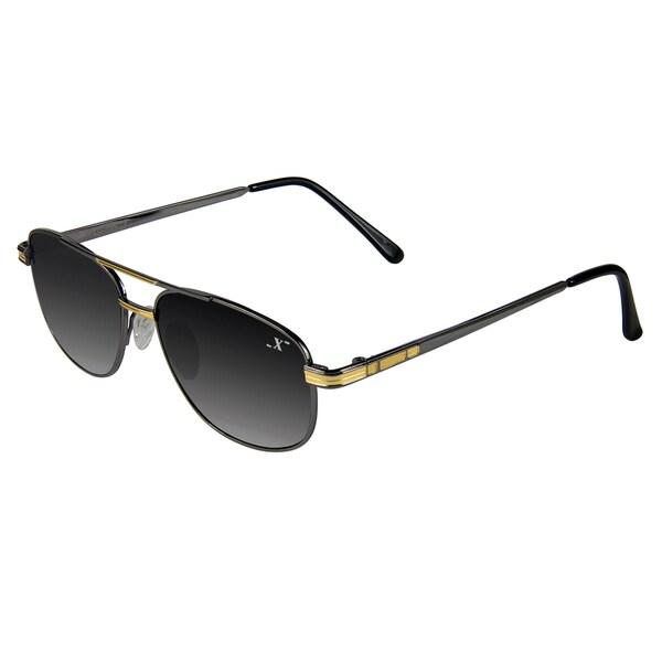 Xezo Men's 'Pilot 150' Titanium Aviator Sunglasses