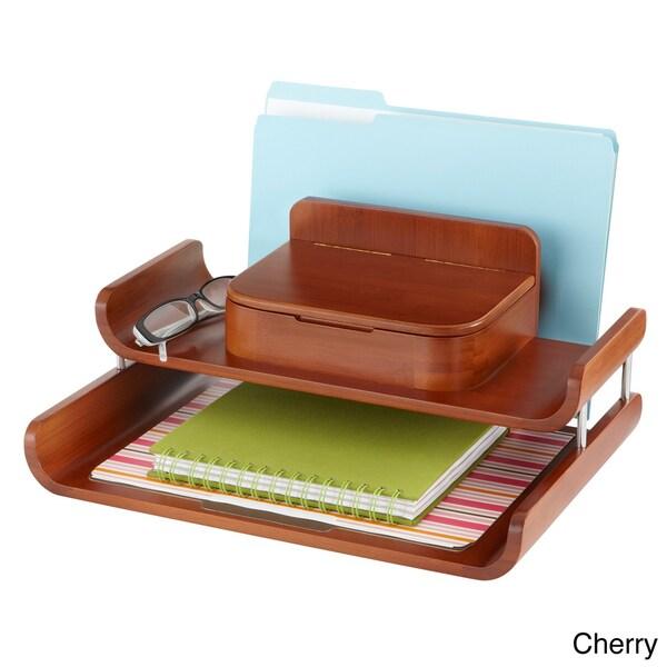 Bamboo Deluxe Desk Organizer