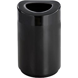 20' x 33' Safco Steel Black Open Top Receptacle (30 Gallons)