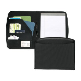 Toppers Classified Nylon Padfolio with Simulated-leather Trim