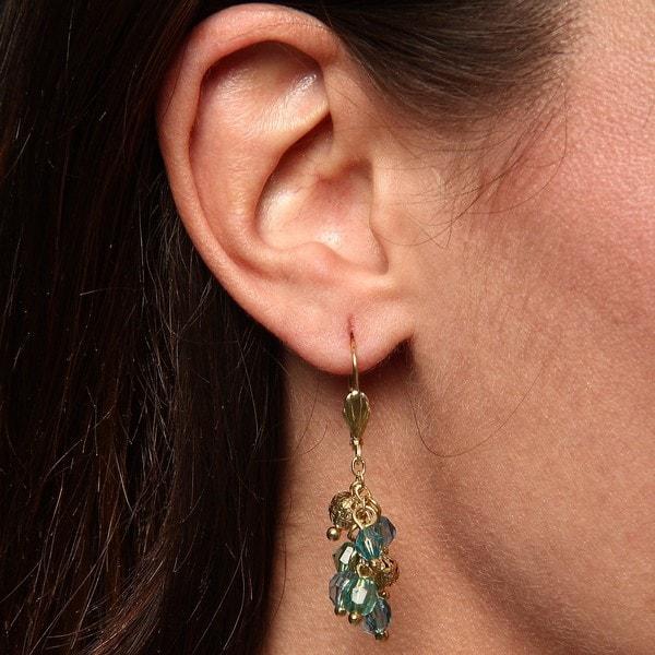 Tear Drop Dangle Earrings (India)