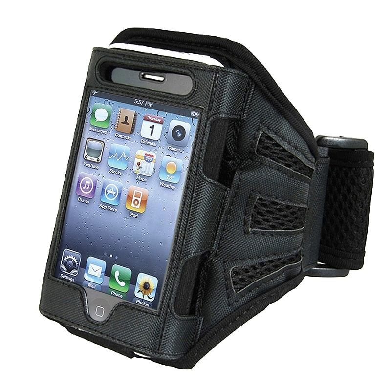 INSTEN Black Deluxe Armband for Apple iPhone/ iPod Touch