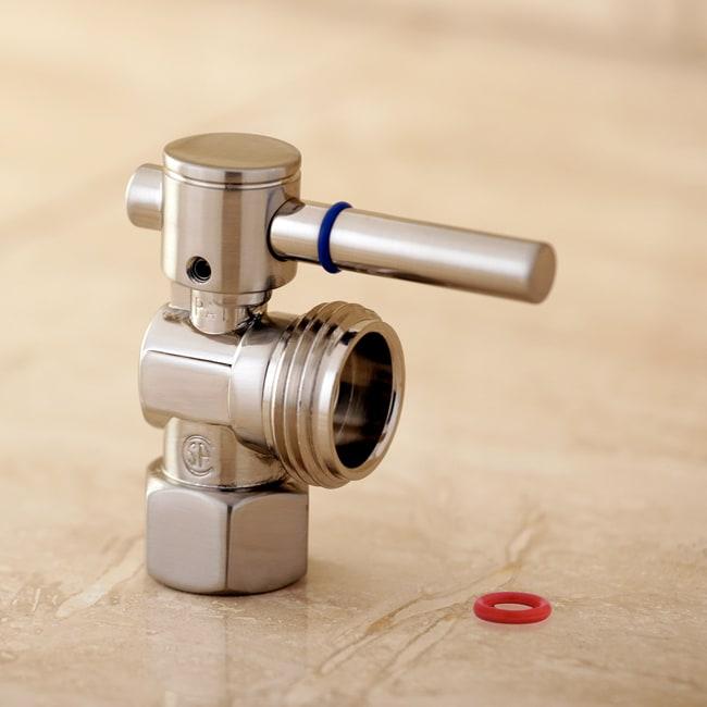 single handle washing machine shutoff valve