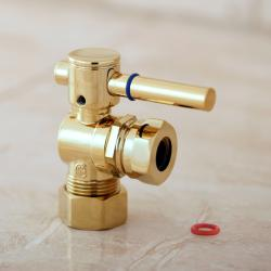Single-handle Polished Brass Angle Valve Stop