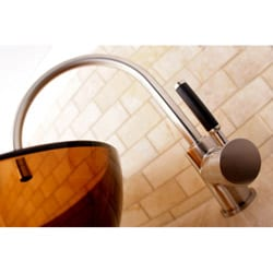 High Arc Satin Nickel Vessel Faucet