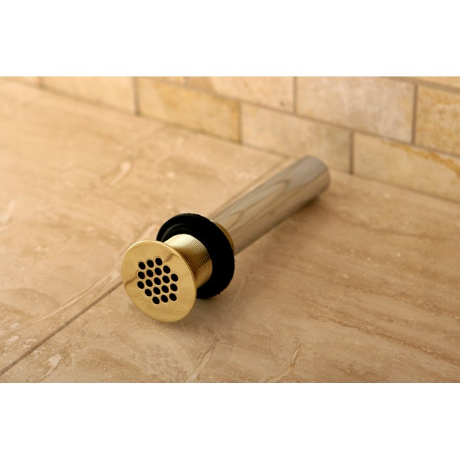 Vessel Sink Polished Brass Grid Drain without Overflow