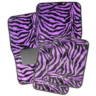 Oxgord Safari Purple Zebra Car Floor Mats (Set of 4)