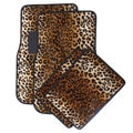 Safari Beige Leopard Car Floor Mats (Set of 4)