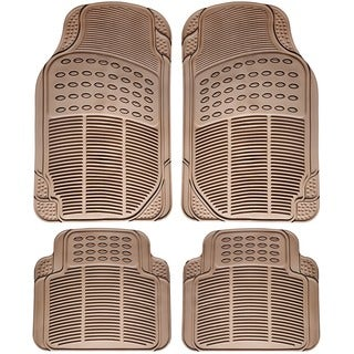 Oxgord All Weather Beige Car Floor Mats (Set of 4)