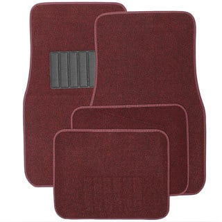 Oxgord Universal Burgundy Car Floor Mats (Set of 4)