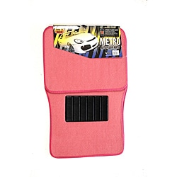 Oxgord Universal Pink Car Floor Mats (Set of 4)